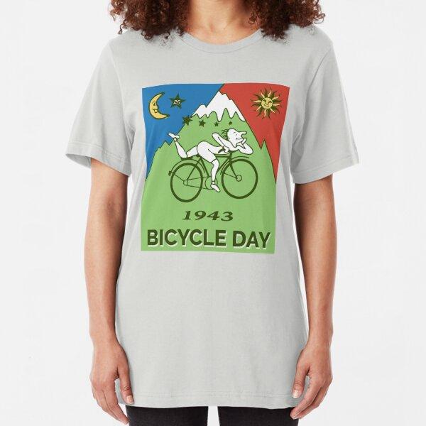 Bicycle Day T-shirt - 1943 Vintage (Albert Hofmann LSD) Slim Fit T-Shirt