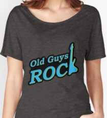 Old Guys Rock Blue Women's Relaxed Fit T-Shirt