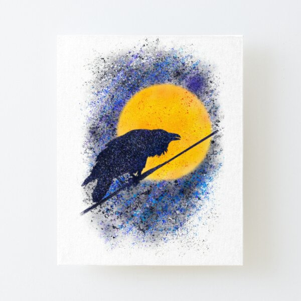 The Voice of Raven Canvas Mounted Print