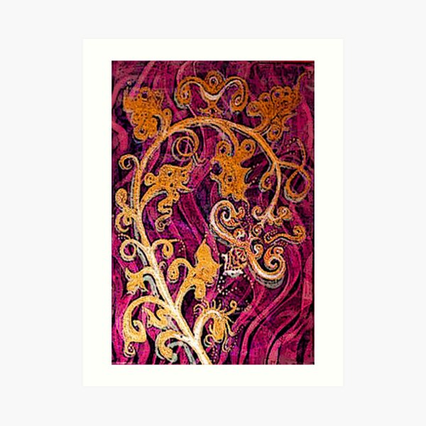 Thai Patterns an acrylic painting Art Print