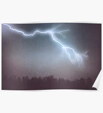Storm Clouds and Lightning Poster