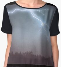 Storm Clouds and Lightning Chiffon Top