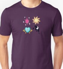 My little Pony - The Four Princesses of Equestria Cutie Mark V3 Unisex T-Shirt