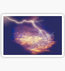 Storm Clouds and Lightning 2 Sticker