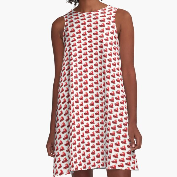 Red pomegranate juice lovers A-Line Dress