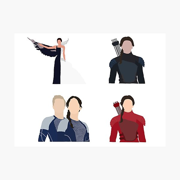 The Hunger Games Katniss Everdeen Sticker Pack Photographic Print