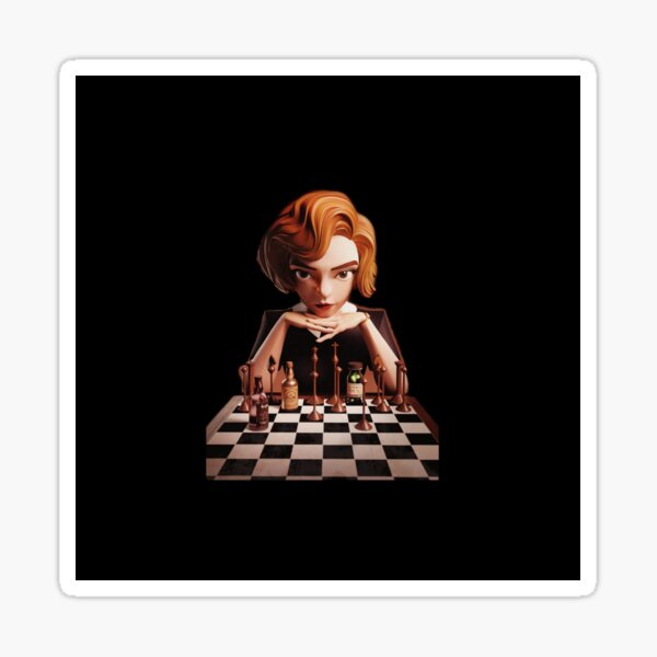 Queen's Gambit Chess Sticker