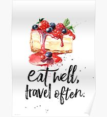 Cheesecake Eat well Poster