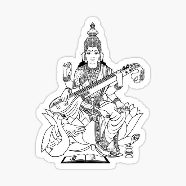 Saraswati Ma Sticker