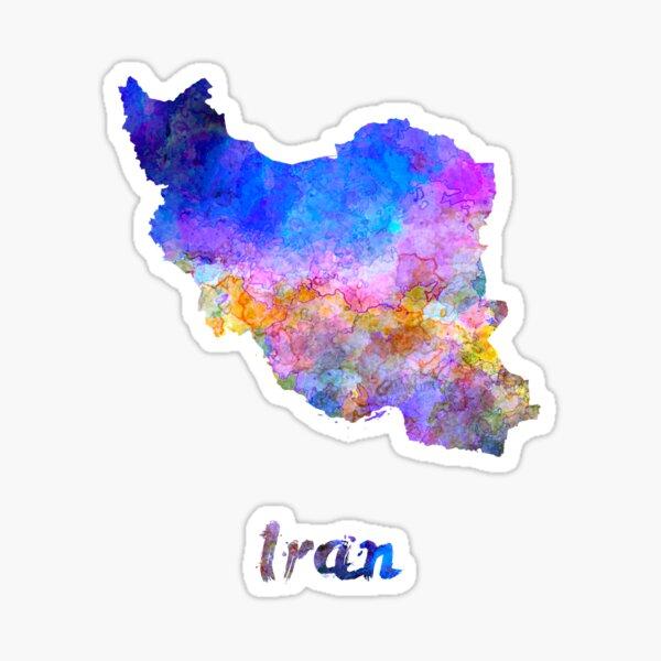Iran in watercolor Sticker