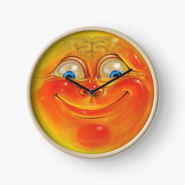 Orange Jelly Head Clock