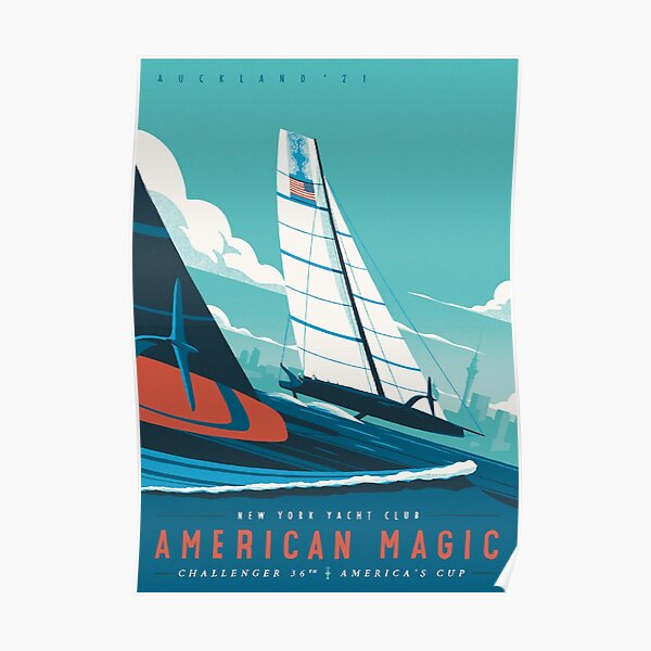 America's Cup - American Magic Poster - Auckland 2021 Poster