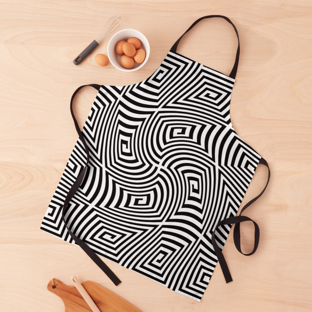 Optical Illusions,  ur,apron_realistic_flatlay,square,1000x1000