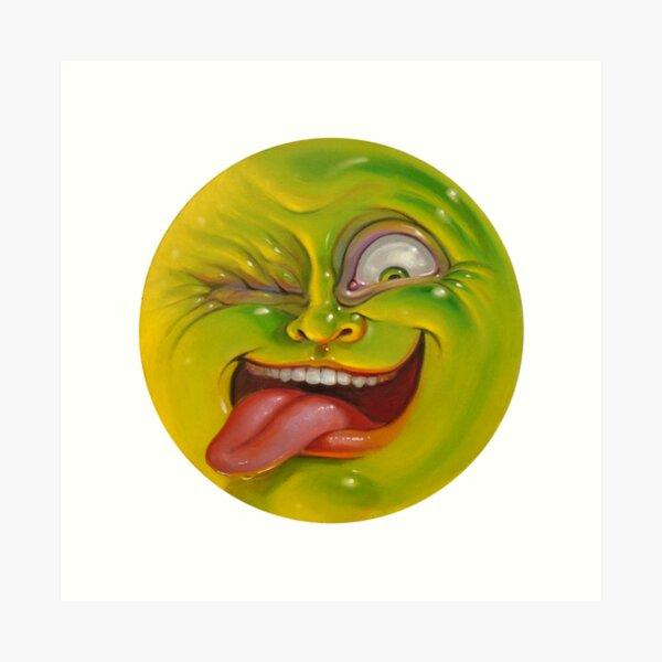 Green Jelly Head Art Print