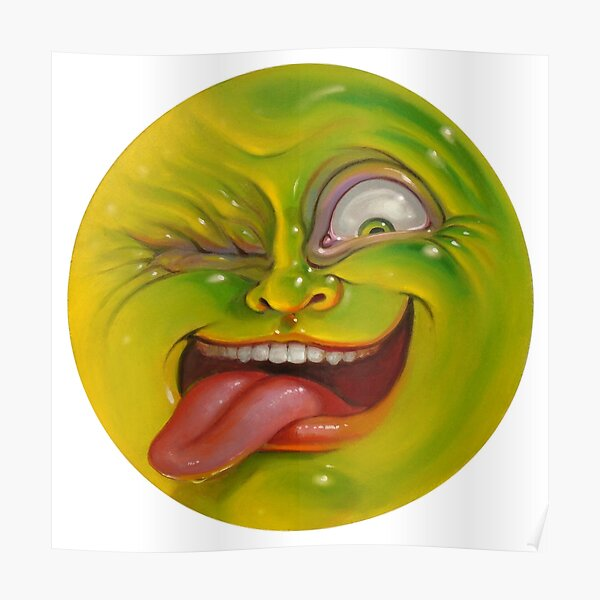 Green Jelly Head Poster