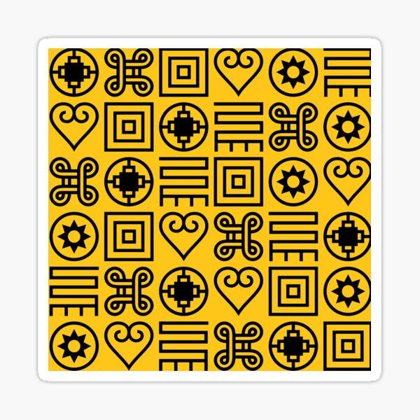 Adinkra Symbols Design Sticker