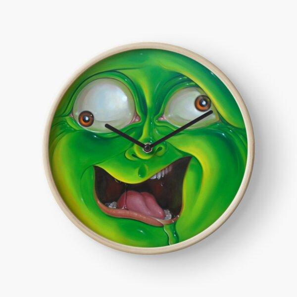 Crazy Green Face Clock