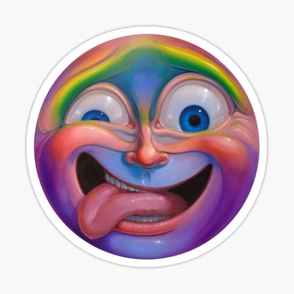 Crazy Face Sticker