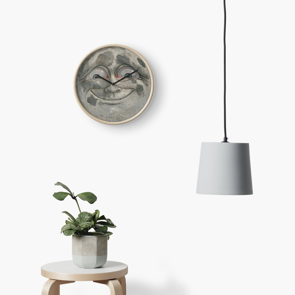 Moon Face Clock