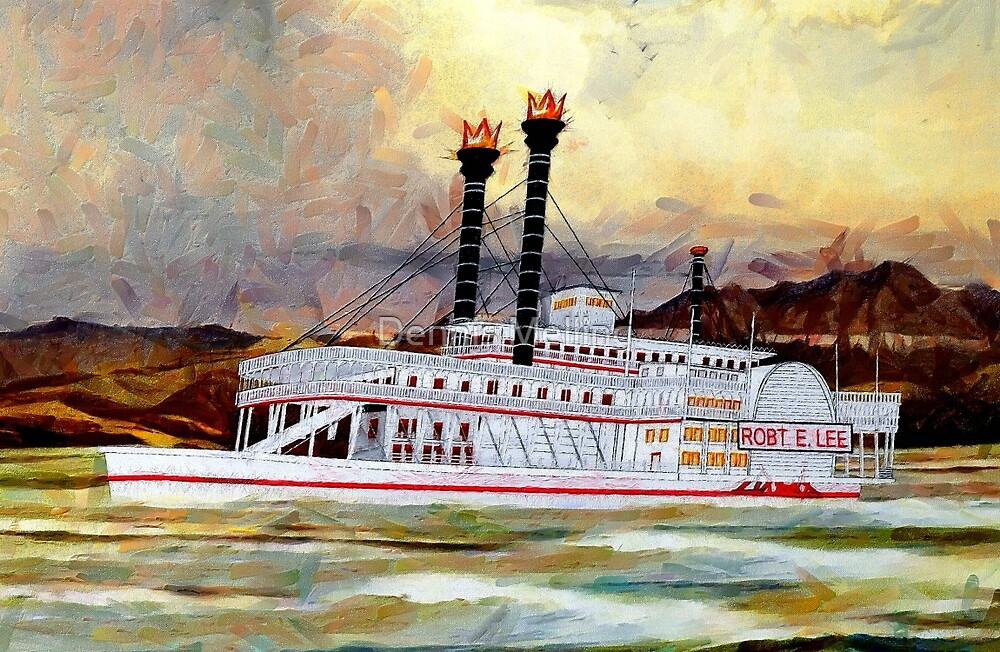 The Robert E Lee Paddle Wheeler 1866 by Dennis Melling