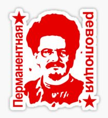 Leo Trotzki Permanente Revolution Sticker