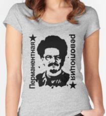 Leon Trotsky Permanent Revolution Women's Fitted Scoop T-Shirt