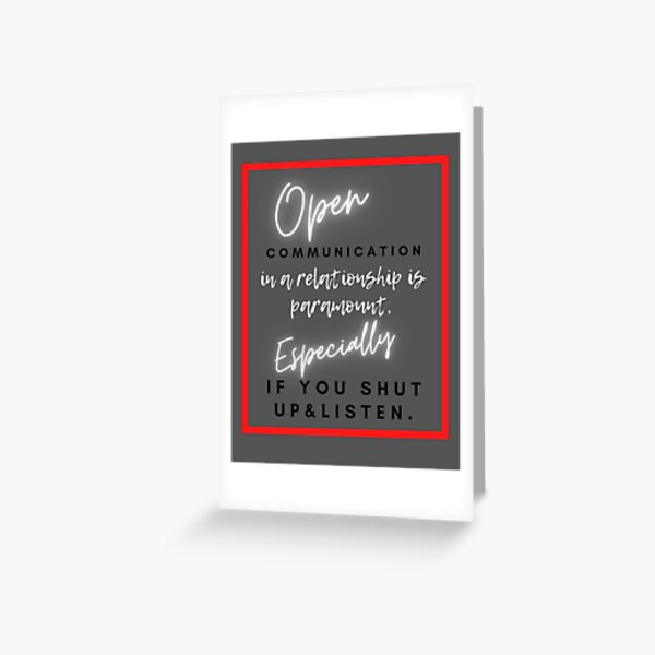 Communication in a relationship Greeting Card