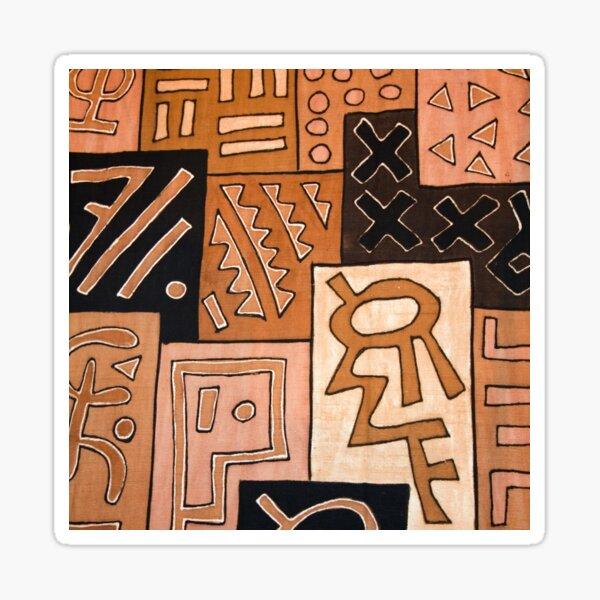 Kuba Cloth Textile Pattern Sticker