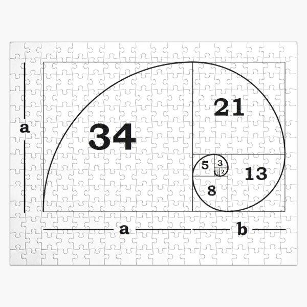 #Golden #Ratio #GoldenRatio #Design Ideas Fibonacci Spiral = 1.6180339887498948420 Jigsaw Puzzle