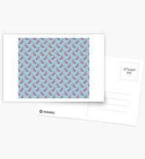 Pink Watercolor Seahorse Pattern Greeting Card