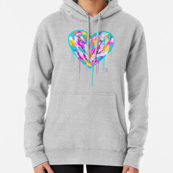 Street Heart on White Pullover Hoodie