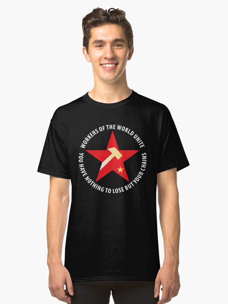 Workers of the World Socialist Red Star Classic T-Shirt Front
