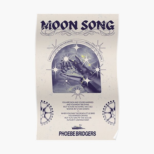 Moon Song - Phoebe Bridgers Poster Poster