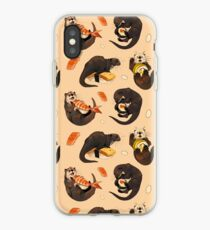 Vinilo o funda para iPhone Pequeñas nutrias y su sushi