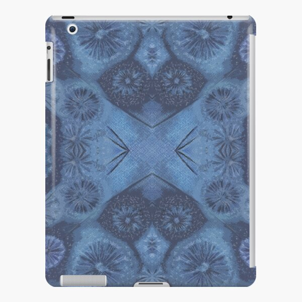 Atmospheric Seed Head Pattern by Nonna, Blue iPad Snap Case