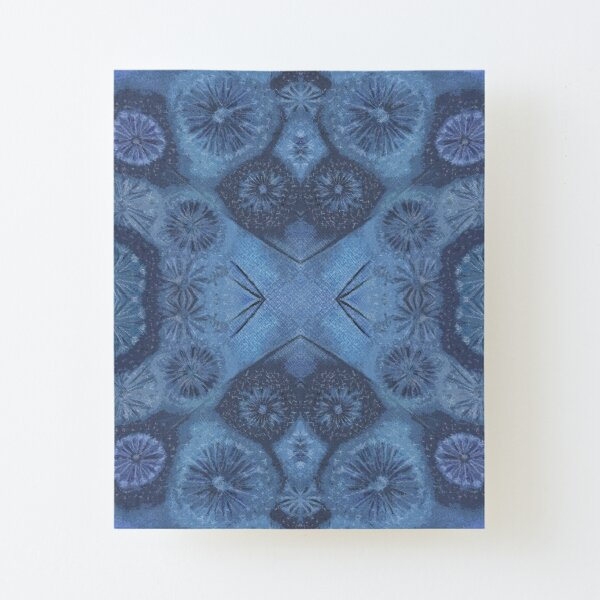 Atmospheric Seed Head Pattern by Nonna, Blue Canvas Mounted Print