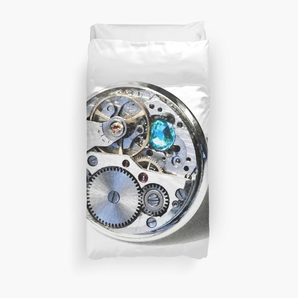 Clock: CyberPunk, Steampunk, Technopunk Duvet Cover