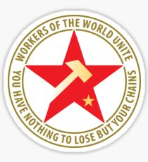 Workers of the World Socialist Red Star Sticker