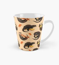 Tiny otters and their sushi Tall Mug