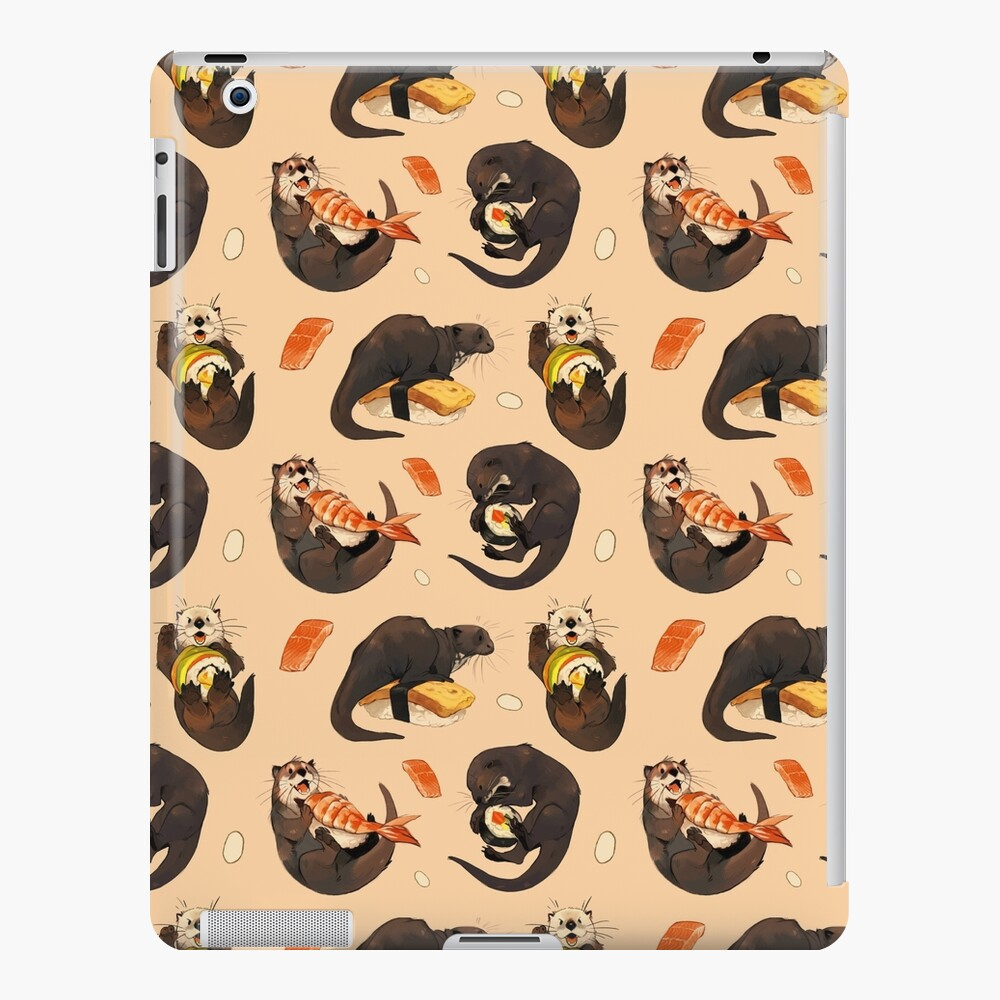 Tiny otters and their sushi iPad Case & Skin