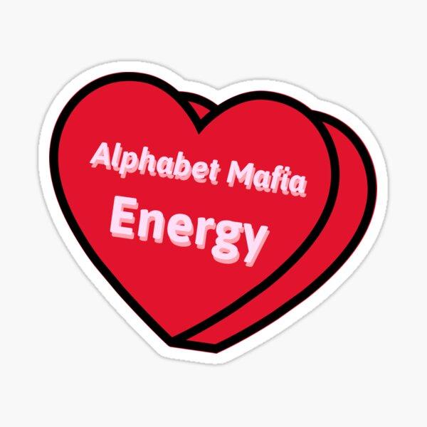 Alphabet Mafia Energy - Candy Heart - Día de San Valentín Pegatina