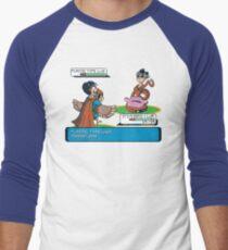 Plastic Type  Men's Baseball ¾ T-Shirt