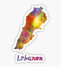 Lebanon  in watercolor Sticker