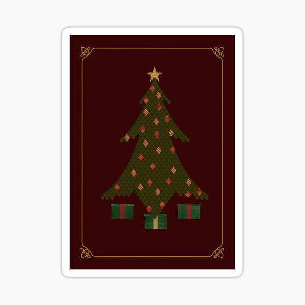 Quilted Christmas Sticker