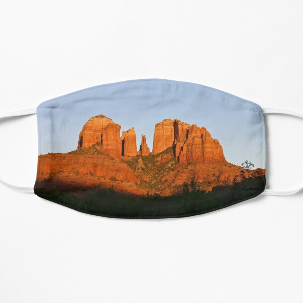 Cathedral Rock as the Sun sets Flat Mask