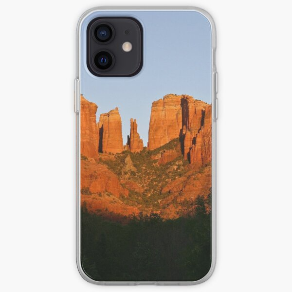 Cathedral Rock as the Sun sets iPhone Soft Case