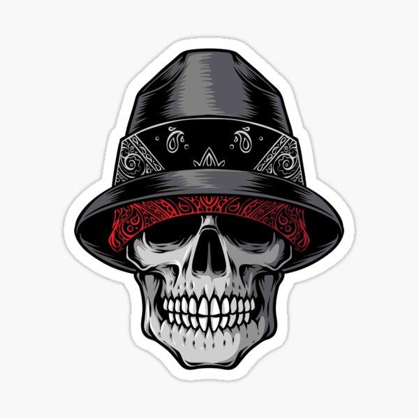 Lowrider Skull Sticker
