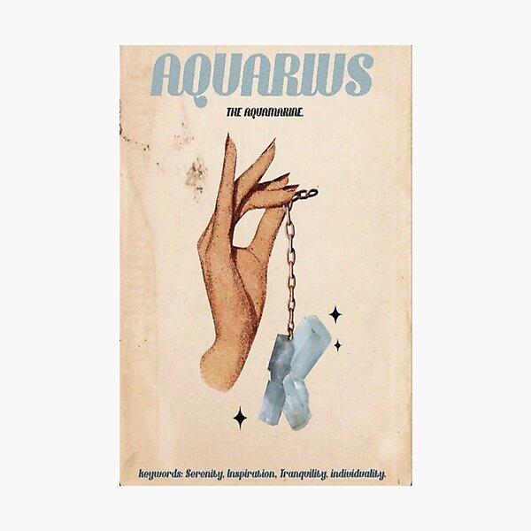 Aquarius Zodiac Poster Photographic Print