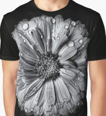 Backyard Flowers In Black And White 10 After The Storm Graphic T-Shirt