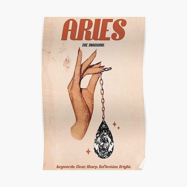 Aries Zodiac Poster Poster